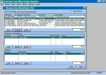 Ims Inventory Work Order